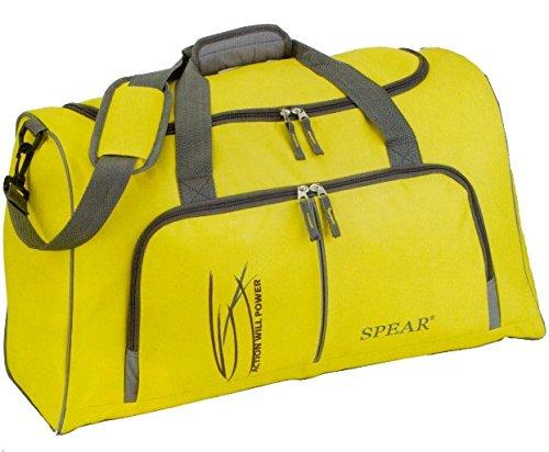 SPEAR® Sporttasche 5554 ACTION-WILL-POWER 58cm Sports Bag Gym Bag groß big Freizeittasche Reisetasche schwarz, gelb, lagoonblau Schwarz
