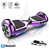 COLORWAY Hoverboard Overboard 6.5 Pouces,E-scooter Intelligent Self-balance Gyropode avec Bluetooth&LED, Scooter Electrique Auto-équilibrage