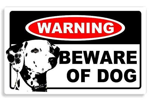 Dalmatian-Dog-Beware-Sticker-Traufkleber-Hund-Auto-Aufkleber-Home-Door-Car-Sign