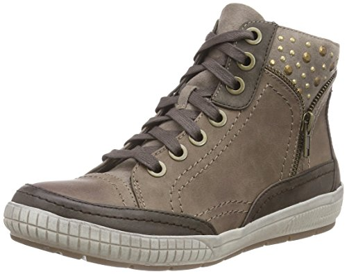 Jana 25210, Women's High-top Trainers, Brown (Braun (Taupe Comb 349)), 4 UK (37 EU)
