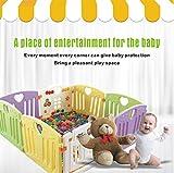 Centro attività Baby Playpen Kids Safety Play yard Home indoor outdoor con 14 pannelli della penna