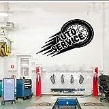 Auto Service Wall Vinyl Aufkleber, Reifen, Reparatur, Autowaschanlage, Auto, Fensteraufkleber, handgemachte Flying Tries Murals selbstklebend 65x42cm