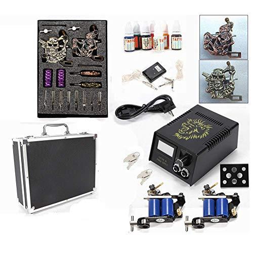 Komplett Tattoo Set, Profi Tattoomaschine Set, Komplett Tattoos Maschine Gun Kit Farben Netzteil DHL DE (Billige Tattoo Kits)
