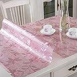Anti-Scrub pvc tovaglie Tavolino da tavolo Tovaglia di vetro macchiato Stuoia di plastica tabella-H 90x100cm(35x39inch)
