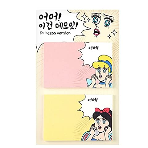 Funny Sticky Post-it Pop-up Notes 60 Sheets/Pad (Princess
