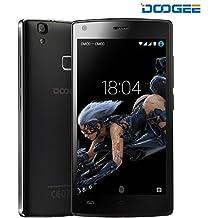 Smartphone Libres, DOOGEE X5 MAX PRO Telefono Movile Libre Baratos (Dual SIM, 5 Pantalla IPS, 8MP Cámara, 2GB RAM+16GB ROM, 4000mAh, Android 6.0, Huella Dactilar, 4G LTE Móvils) - Negro