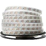 Treedix WS2812B Remsbelysning 5 m 60 LEDs per meter vit bräda SMD LED 5050 RGB flexibelt silikonrör IP67 vattentätt 60 000 ti