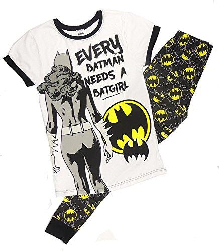 Damen Weiche Baumwolle voller Länge Pyjama Pyjama PJ 's Damen Xmas Geschenk Presents Größe UK 8–22 Gr. Medium, Batman needs a Batgirl (Batman Pyjama-hose)