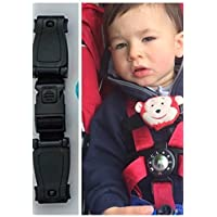 BUGGY CAR SEAT HARNESS CHEST CLIP SAFETY STRAP, ANTI ESCAPE SYSTEM STOPS ARMS ESCAPING HARNESS