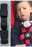 Correa para cinturón y arnés de seguridad de silla de bebé, con cierre de clip, sistema antiescape.Evita que los brazos se salgan del arnés.