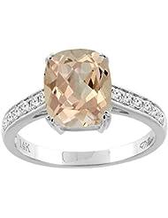 Revoni 14ct oro colgantes Natural del corte del amortiguador diamantes 9 x 7 mm
