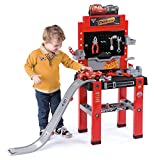 Smoby 360713 Disney Cars Center mit Sprungschanze, Werkbank