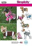 Simplicity 1239Größe A Hunde Coats in 3Größen Schnittmuster, Mehrfarbig
