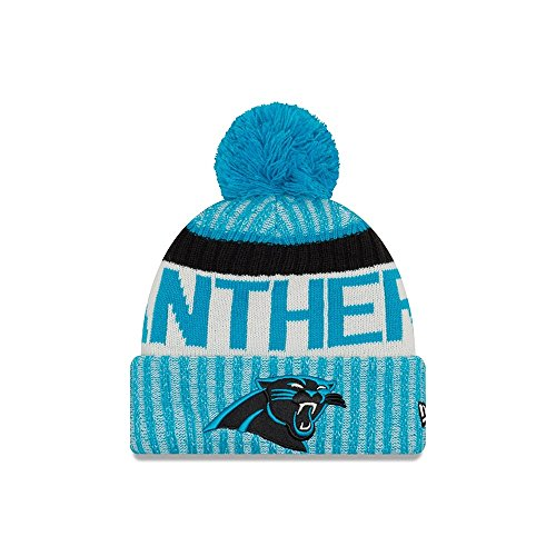 Carolina Panthers New Era 2017 NFL Sideline On Field Sport Knit Hat Hut - Blue (Neu Hut Mütze Logo)