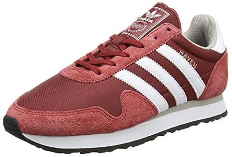 adidas Herren Haven Laufschuhe, Rot (Mystery Red/Ftwr White/Clear Granite), 44 2/3 EU