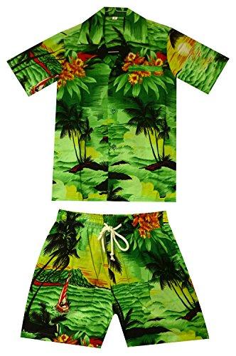 Funky Kinder Cabana Set, Surf, Grün, 2 Jahre (Hawaii Kostüm Für Jungen Kinder)