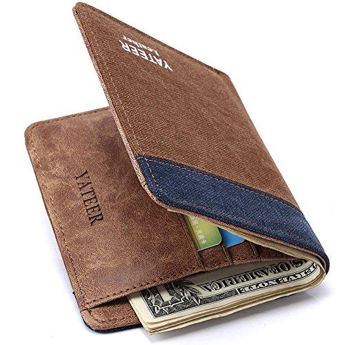 Herren Brieftasche, Geldbörse für Herren, Karte, Tasche, Sieben Nine