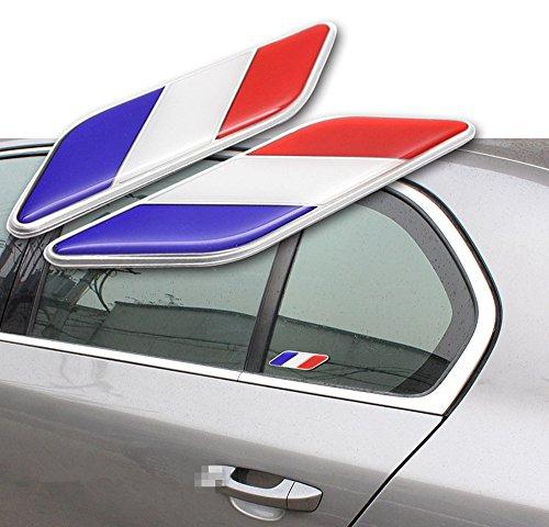 2x Auto Aufkleber Sticker Flagge Französisch für Dekoration Auto Klebeband