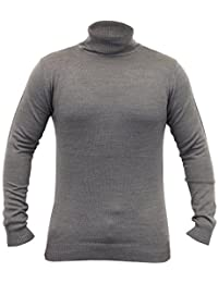 Pull Homme Soul Star Polo Col Roulé Tricot Col Léger Sweat Hiver