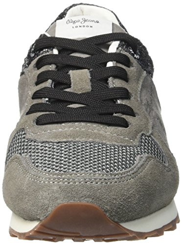 Pepe Jeans London Verona W Break G, Scarpe da Ginnastica Basse Donna Grigio (Middle Grey)