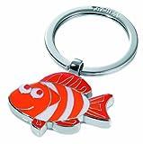 LOUYSPortachiavi a forma di pesce, in metallo cromato lucido, colore rosso 66 * 39 * 5 mm 27,8 gr Design:Anne RieckKR11-06/RD