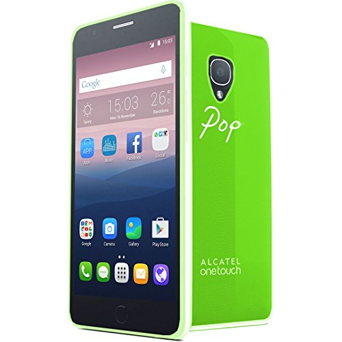 TBOC® Grün Gel TPU Hülle für Alcatel One Touch Pop Up Ultradünn Flexibel Silikonhülle