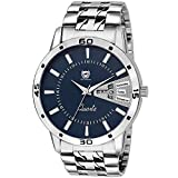 OM Collection Analog Blue Day and Date Men's Watch with Stainless steel strap-omwt-101