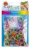 folia 339609 - Rubber Loops Mix bunt, 600 Gummibänder, inklusive 25 stück - Clips und 1 Häkelnadel