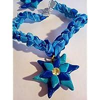 bracciale fiore blu