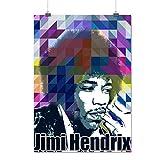 Hendrix Famous Celebrity Music Idol Matte/Glossy Poster A3 (42cm x 30cm) | Wellcoda