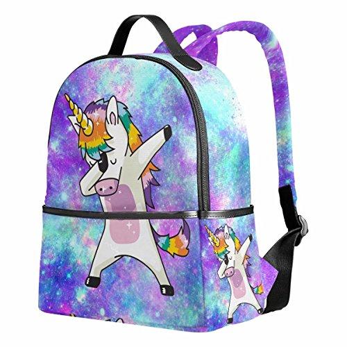 """Einhorn Rucksack für Mädchen Galaxie Süß Schultasche Lustig Grundschule Taschen Rucksäcke Daypack 12.6\""""x 5\"""" x 14.8\"""" für 1th-3th Klasse Kinder Mädchen"""