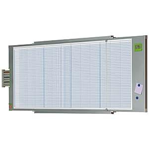 Val-Rex Planning annuel magnétique 80 lignes 12 colonnes 60 x 185cm