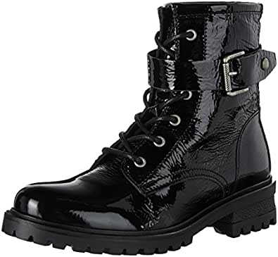 Hilfiger Denim C1385orey 5a, Stivali Combat Donna, Nero (Black), 36 EU
