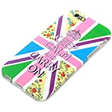 "deinPhone Apple iPhone 6 6S (4.7"") SILIKON CASE Hülle Keep Calm And Carry On Bunt"