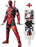 Costume Muscle Deadpool Plus officielle sans armes Kit de toutes les tailles