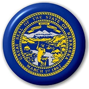 Emblems-Gifts Nebraska US Staat – 25 MM PIN KNOPF-Abzeichen