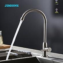 Damxied 304 Robinet évier de cuisine Robinet de lavabo de légumes peut faire tourner le robinet en acier inoxydable Acier inoxydable,Cusp corps principal