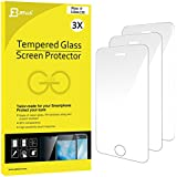 iPhone SE Protection écran, JETech 3-Pack Film Protection en Verre trempé écran protecteur ultra résistant Glass Screen Protector pour Apple iPhone SE 5s 5c 5