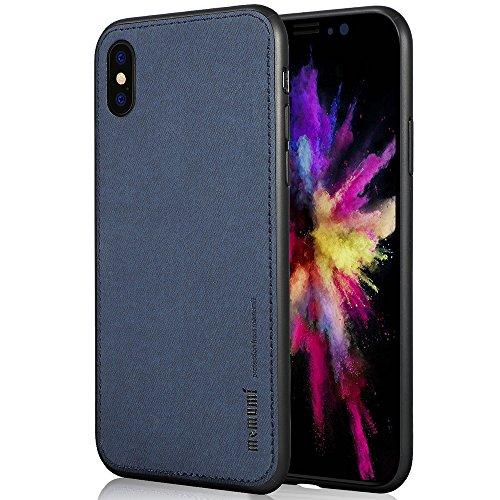 memumi Funda iPhone X, Carcasa iPhone 10 Prueba de Golpes Caso de Protección contra la Huella Digital de la Contraportada para Apple iPhone X/iPhone 10 - Azul