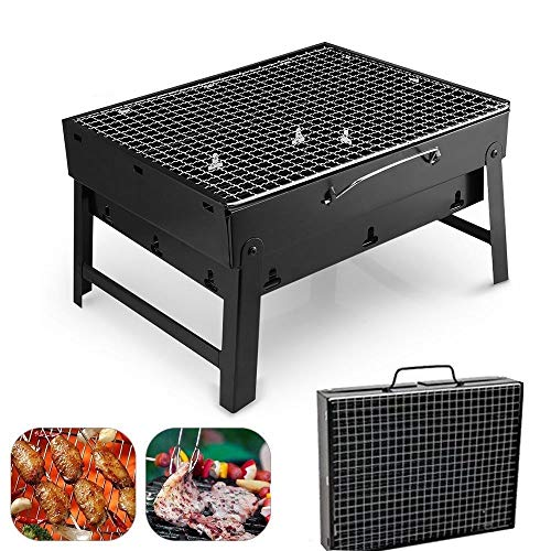 Uten grill barbecue carbone griglia barbecue per 3 - 5 persone cottura alla brace ottima griglia trasportabile per cuocere carne pesce verdure pane bruschettato ecc