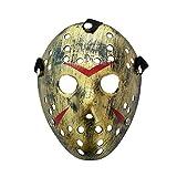 Lixinfushi Horror Halloween Kostüm Hockey Maske Party Cosplay Requisiten Fünf Farben Optional (2Er Pack),D