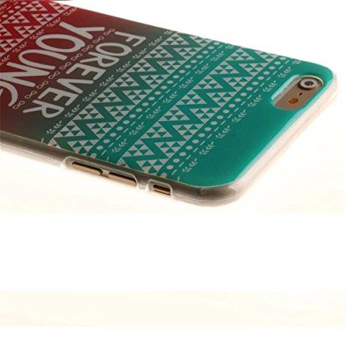 iPhone 6 Coque, iPhone 6S Coque, Lifeturt [ Route 66 ] [Ultra Mince] Silicone TPU Souple Case Cas de Couveture Coque Integral Protection Anti Rayure Anti Choc Résistante Fashion pour Apple iPhone 6s / E02-Forever Young