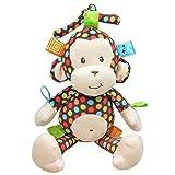 Singring Baby Pram Crib Activity Plush Cute Monkey Toy Stroller Clip on Toy