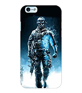 ColourCraft The Warrior Design Back Case Cover for APPLE IPHONE 6