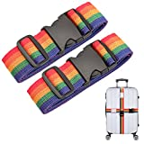 """Koffer Gurte, Galopar Verstellbarer Koffergurte für Koffer 16 """"-30"""" mit eingebautem Namensschild Koffer Gürtel Reise Essentials-1/2/4 Pack"""