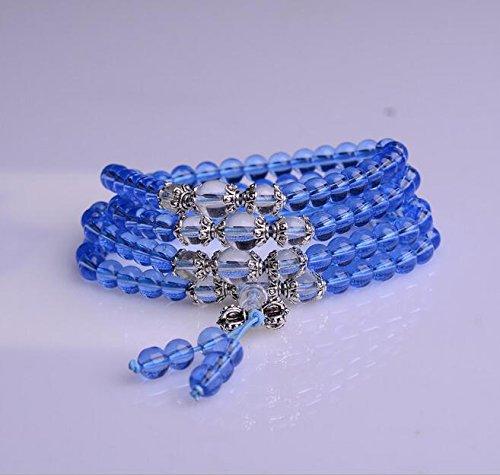 K&C Pearls cristallo gemma trazione cristallo avvolgente braccialetto elastico di pietra naturale Chakra Healing Power (108 Chiave Usb)