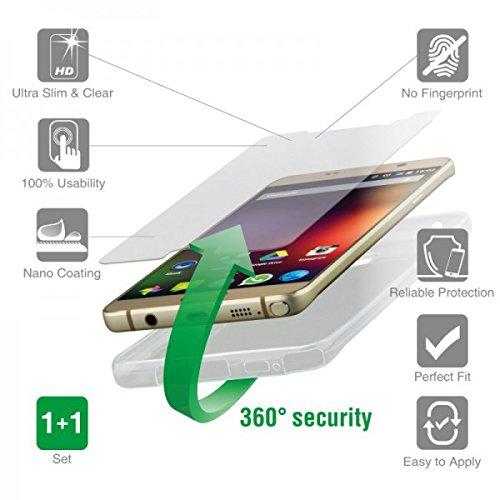 4smarts 360° Protection Kit vetro di protezione & per cellulare Second Glass & Case Set protezione completa Cover per Huawei Honor 7