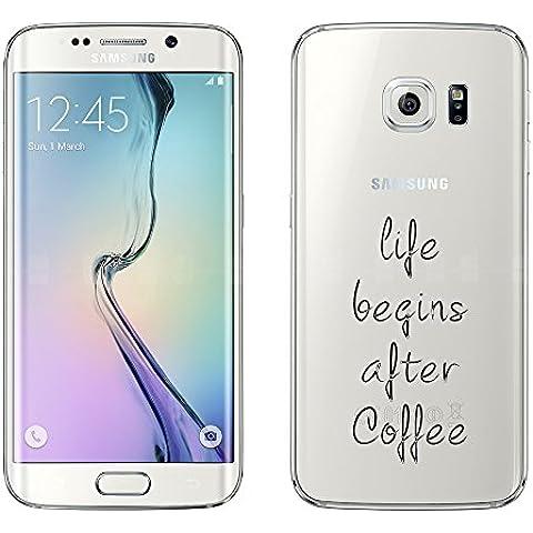 Samsung Custodia di licaso® per il Samsung Galaxy S6 Edge di TPU Silicone Dopo il Caffè After Coffee Modello molto sottile protegge il tuo Samsung Galaxy S6 Edge & con stile Cover Bumper (Samsung Galaxy S6 Edge, Dopo il Caffè)