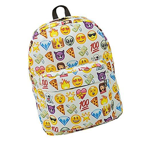 Imagen de samgu bolso de hombro del estilo del emoji  bolsa de viaje al aire libre color blanco