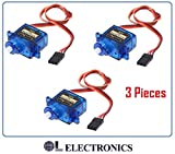 #1: Olatus 3x Pieces SG90 Tower Pro Micro Servo Motor (Pack Of 3) ,for Raspberry Pi Arduino AVR PIC 8051